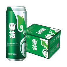 雪花啤酒清爽拉罐500ml*12罐     整箱装    啤酒