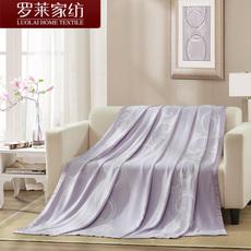 罗莱家纺床上单人夏凉毯子办公午睡空调毯竹纤维盖毯Q1124 17新品