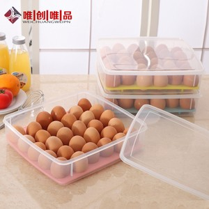 冰箱鸡<span class=H>蛋盒</span>鸡蛋<span class=H>格</span>保鲜盒30<span class=H>格</span> 装<span class=H>蛋盒</span>鸡蛋架放鸡蛋的收纳盒