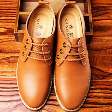 乔奈2016春季新款牛皮男鞋真皮鞋英伦休闲皮鞋圆头系带潮流鞋皮鞋