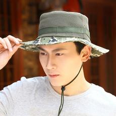 帽子男夏天遮阳帽渔夫帽户外女夏季网帽棒球帽鸭舌帽旅游帽韩版