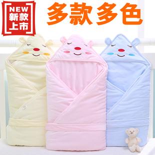 新生儿包被抱被春秋冬抱毯纯棉加厚款被子襁褓婴儿毛毯新生儿包巾