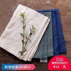 纯色餐巾 棉麻简约素色餐巾布家用西餐方巾 创意餐垫折花布擦杯布
