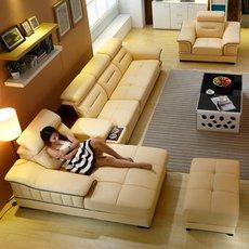 【南城欧巴】真皮沙发 进口中厚牛皮 现代大小户型客厅皮沙发皮艺