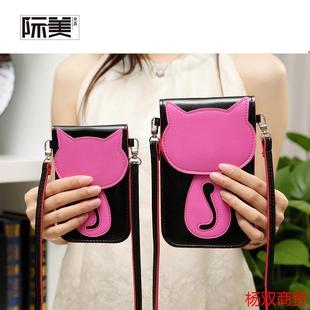 2016新款卡通触屏时尚单肩斜挎女士手机包挂脖零钱包迷你手机袋