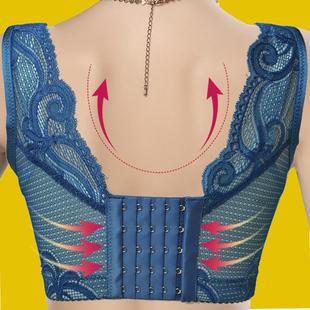 美背大码收副乳性感调整型文胸全罩杯薄款蕾丝聚拢女内衣