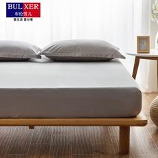 布伦雪儿纯色纯棉床笠单件1.8m床罩 全棉防滑 席梦思保护套床垫套