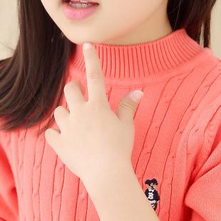 女童毛衣2016新款男童高领套头儿童针织打底衫中大童装宝宝外套冬