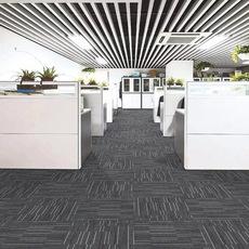 办公室方块地毯写字楼卧室条纹 尼龙地毯商用工程满铺PVC拼接地毯