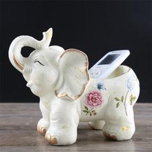 饰品鞋 大象摆件家居酒柜玄关收纳盒装 柜放钥匙 收纳盘创意礼品
