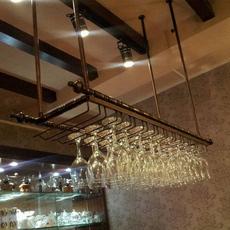 酒吧酒杯架吊杯架倒挂酒杯架高脚杯架吧台酒架酒杯架悬挂红酒杯架
