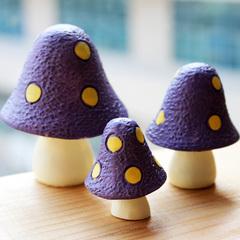 如果家居zakka杂货蘑菇森林 系列 小摆件 书桌摆件摄影道具