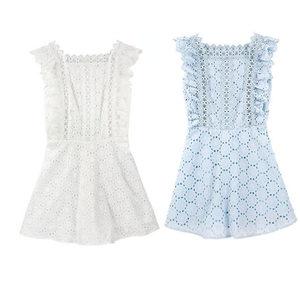张大奕 <span class=H>蕾丝</span>连衣裙女2018夏新款 裙裤设计<span class=H>甜美</span>气质显瘦娃娃裙同款