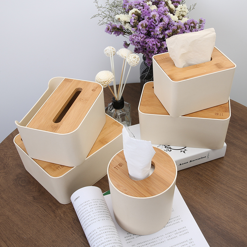 简约木质纸巾盒茶几家用卷纸筒抽纸盒客厅遥控器收纳餐巾纸盒厕所图片