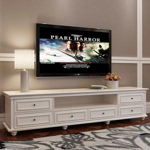 <span class=H>美式</span>乡村电视柜茶几组合田园实木原木现代欧式烤漆客厅摆件柜定制
