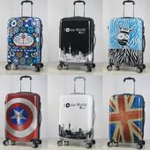 涂鸦卡通行李箱万向轮韩版 可爱大小学生儿童男女拉杆旅行箱小清新