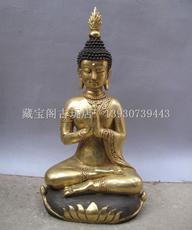 黄铜佛像 纯铜佛像 泰国佛像泰国成功佛 泰国佛合掌释迦牟尼佛 像