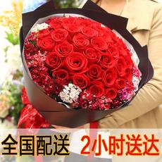 七夕情人节红玫瑰花束生日鲜花速递合肥深圳杭州花店同城送花上门