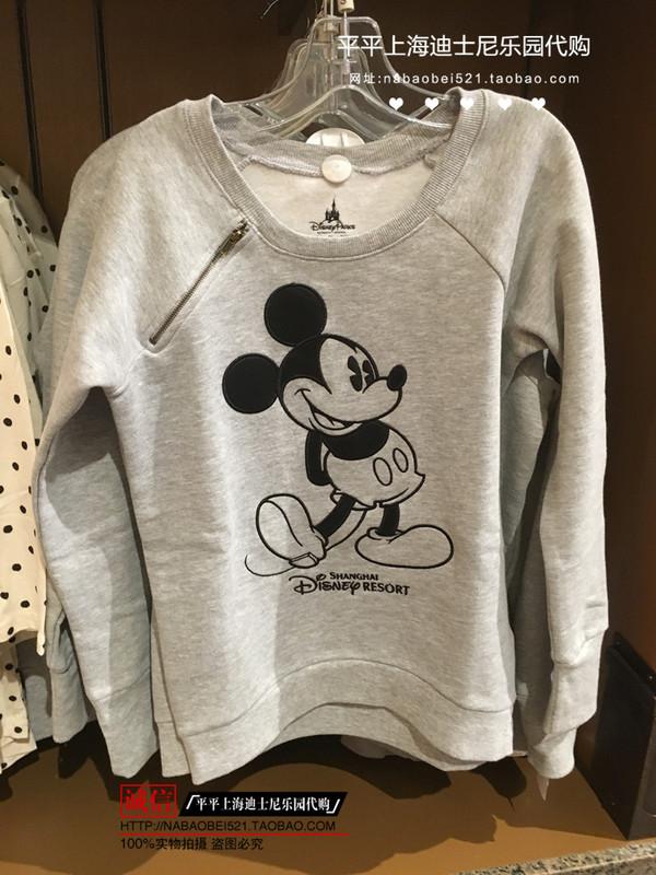 经典米奇灰色加绒 女士卫衣春秋保暖上衣 上海迪士尼乐园国内代购图片