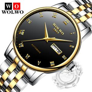 沃伦沃手表 超薄全自动机械表钨钢男表男士防水夜光防水潮流新款手表