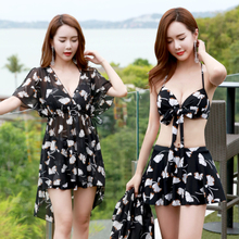 You swimming suit female split three-piece jacket conservative and slim, sexy hot spring bikini swimming suit