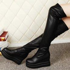 新款内增高过膝长靴子韩版显瘦长筒女靴