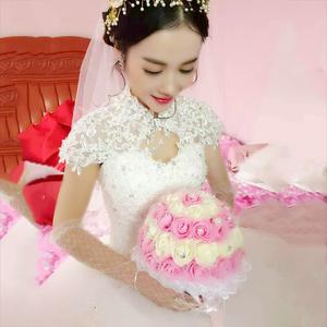 2017新款婚纱礼服孕妇新娘结婚拖尾长袖公主简约齐地梦幻欧美冬季婚纱