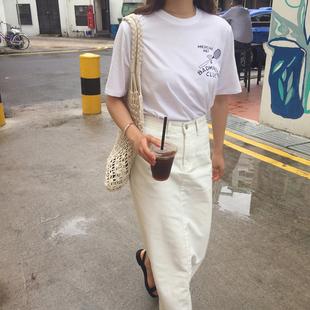 夏季2018新款chic百褶短裙高腰鱼尾长裙A字中长款棉麻半身裙子女
