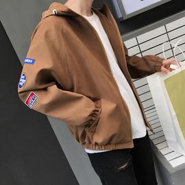 新款韩版学生连帽帅气个性夹克外套