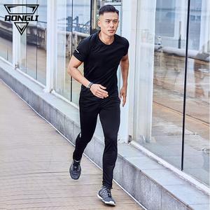 夏季运动套装男士 跑步夏天户外健身房休闲速干衣服短袖长裤薄款运动服