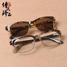 太阳镜纯天然水晶石头中老年养眼护目正品平光茶眼镜男女士款墨镜