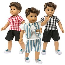 ZITA ELEMENT Set of 3 Casual Creative Striped T-Shirts & Pan