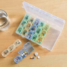 旅行双层大药盒便携随身携带一周药盒分药器药品收纳盒胶囊分装盒