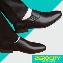 男内增高真皮新郎婚鞋 商务正装 尖头青年韩版 零度名城新款 皮鞋