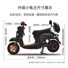 代步车加长版男士女士72v小龟王电动车踏板车小型电瓶车自行车60v