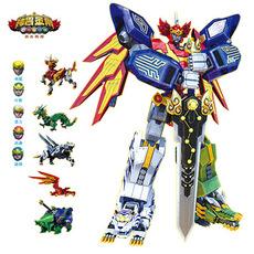正版神兽金刚青龙再现玩具天神地兽变形五合一合体机器人白虎朱雀