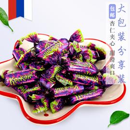 俄罗斯KDV紫皮糖进口夹心巧克力糖
