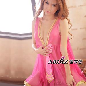 韩服热卖成人情趣内衣制服 透明粉色女性睡衣透视清纯女郎性用品