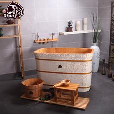 浴桶泡澡盆浴桶 浴缸木质洗澡桶成人桶盆沐浴沐浴包邮