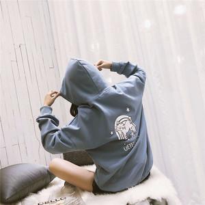 韩版连帽卫衣女<span class=H>潮流</span>情侣装运动上衣外套宽松显瘦休闲街头少女衣服