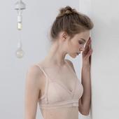 三角杯欧美法式超薄款 无钢圈舒适女士内衣透气性感聚拢蕾丝文胸