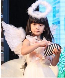 六一 儿童表演翅膀道具 小天使翅膀舞台婚庆天使羽毛翅膀玩具翅膀