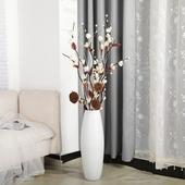 落地花瓶客厅家居装 饰品仿真花欧式大号陶瓷插花干花花瓶创意摆件