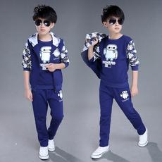 5童装7男童秋装9套装2016中大童10韩版12新款11岁儿童卫衣三件套