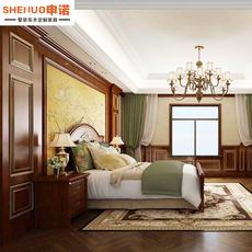 原木护墙板背景墙法式美式装饰实木墙板客厅卧室墙裙美国红樱桃