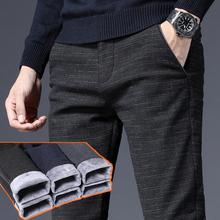 男士裤子冬季2018新款加绒加厚休闲裤男修身冬天青少年百搭外穿潮