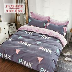 好梦来家纺斜纹全棉四件套双人时尚简约床上用品1.5m床1.8m春秋被