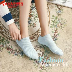 鸭鸭袜子女低帮浅口短袜糖果色船袜舒适透气短筒袜子秋季运动棉袜