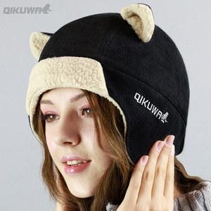 <span class=H>帽子</span><span class=H>女</span><span class=H>冬</span>天韩版猫耳朵<span class=H>雷锋</span>帽甜美可爱学生加厚户外护耳保暖套头帽