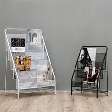 北欧铁艺杂志架办公资料展示架折叠现代简约报刊架儿童落地书刊架